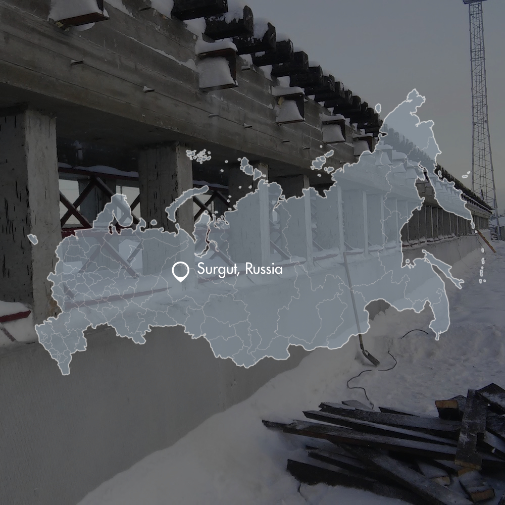 Rail infrastructure design Surgut Russia