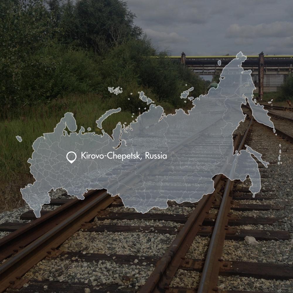 Rail track design Kirovo-Chepetsk